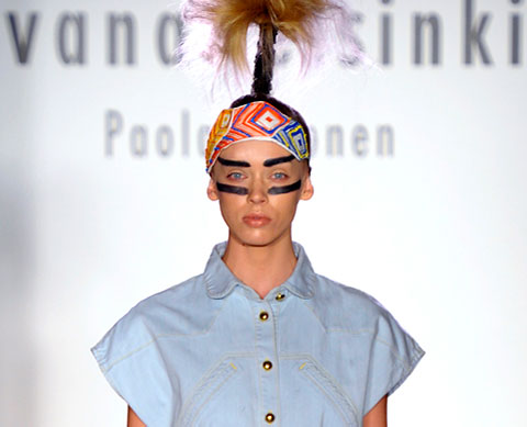 Ivana Helsinki SS2012 Indian Summer Collection on the runway at NYFW.