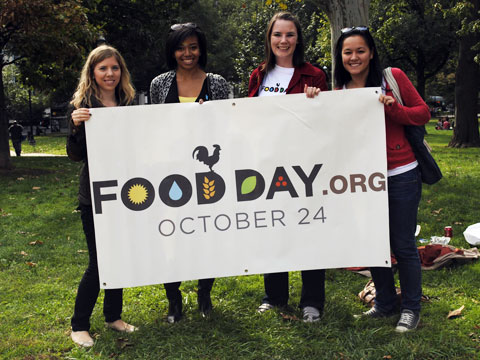Food Day volunteers in Washington, DC.