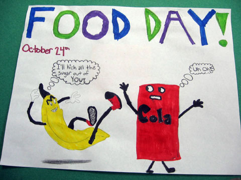 Unhealthy Foods Drawing Kids Drawing Healthy Food