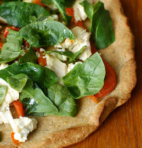 Try to make a gluten-free pizza with this recipe from glutenfreegirl.com.