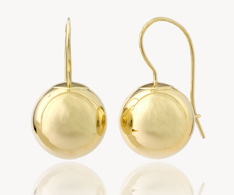 AmaraGold 14K Gold Green Earth Drop Earrings