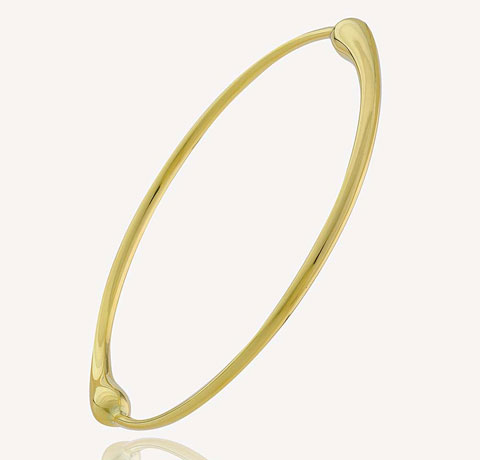 14K Gold Maria Canale Balance Collection Bangle