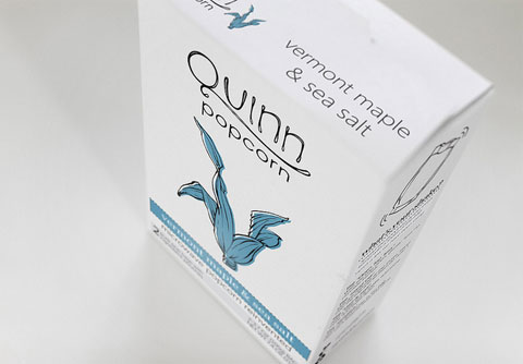Quinn Popcorn currently comes in three different flavors — Parmesan & Rosemary, Vermont Maple & Sea Salt, and Lemon & Sea Salt.