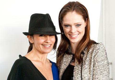 Belinda Pasqua, designer of The Sway, and Coco Rocha.