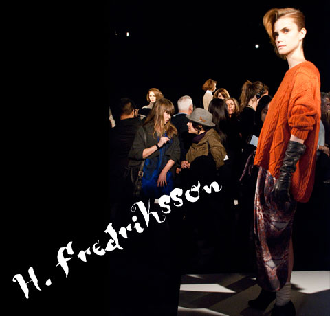 Goodlifer: The GreenShows at NYFW FW12: H. Fredriksson