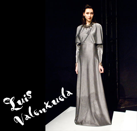 Goodlifer: The GreenShows at NYFW FW12: Luis Valenzuela