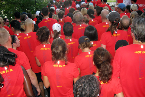 Nike's Human Race, where runners all wore identical red shirts, was the most obvious display of the collective appeal of running that I have ever experienced.