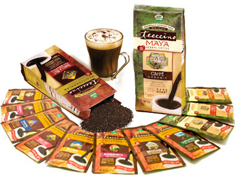 "Teeccino is a great-tasting herbal coffee. You can drink it all day long without any of those nasty side effects that come from drinking ""the real stuff."""