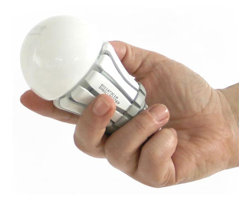 Inside the cute package is a long-lasting, energy-efficient Pharox LED lightbulb.