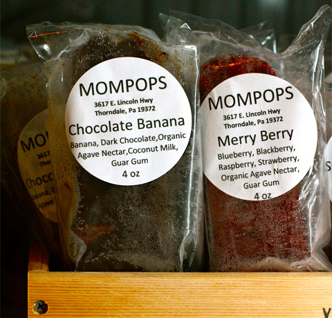 Chocolate Banana and Merry Berry Mompops.
