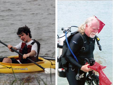 James Hemphill & Captain Don Voss, Oceana's 2012 Ocean Heroes.
