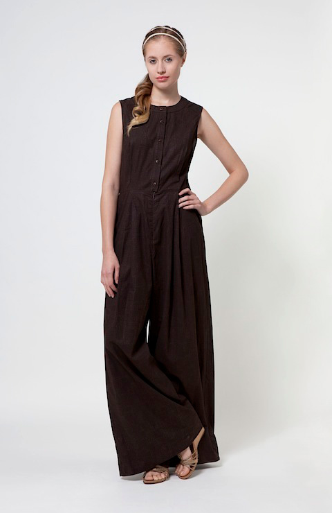 a.d.o.'s Amalfi wide-leg jumpsuit in organic cotton offers a retro flair and pure comfort