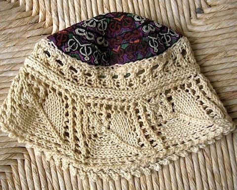 Goodlifer: Bazaar Bayar: Uzbek Embroidery Lace Knit Cap