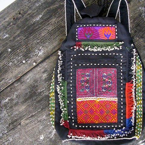 Goodlifer: Bazaar Bayar: Embroidered Patchwork Backpack