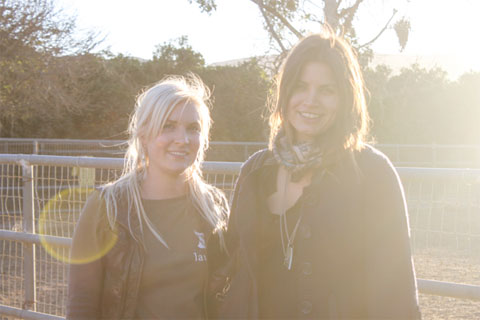 Lauren Johanson and I, in the warm afternoon light at Chivas family farm.