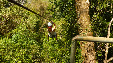 Going on a canopy tour, where you fly through the trees on a series of zip lines, is a fun, adrenaline-filled experience.