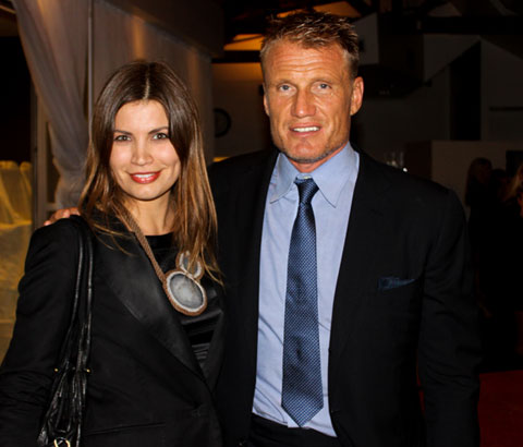 Goodlifer's Editor-in-Chief, Johanna Björk, with Dolph Lundgren in Los Angeles.