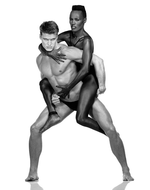 Lundgren and Grace Jones in 1983, photographed by Albert Watson.