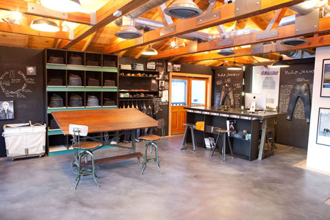 Nudie Jeans House in Los Angeles is a shop/showroom, and the brand's U.S. flagship store.