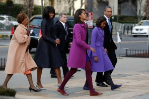 Can we just talk for a moment about how stylish the first family looks? Photo via The New York Times.