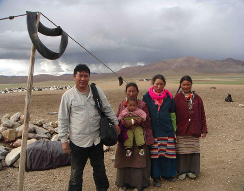 The Tibetan nomads who collect Fibre Tibet's cashmere are paid a higher market price