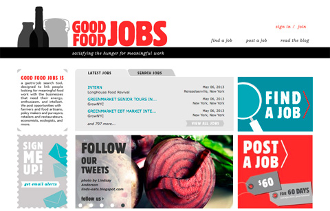 Good Food Jobs site