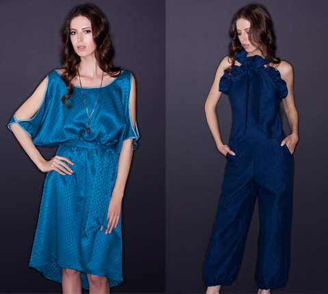 Elegant, ethically made dress and jumpsuit by Kristinit