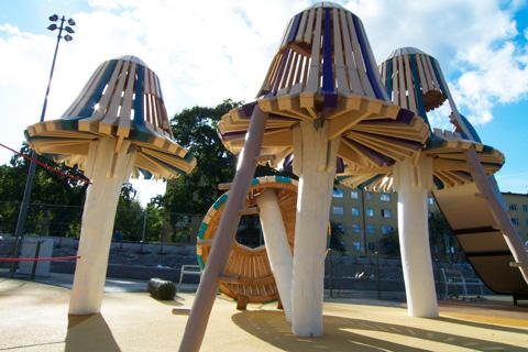 Monstrum's New Playground in Kristinebergs Slottspark, Stockholm