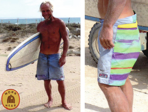 Worn Wear: a Film About the Stories We Wear: Christo Grayling's board shorts