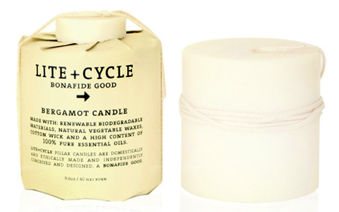 Lite+Cycle Bergamot Pillar Candle