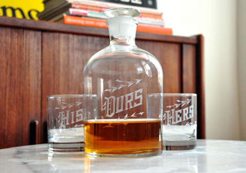 Ours Decanter Set by Love & Victory