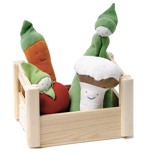 Goodlifer: Good Gifts for Kids: Organic Cotton Teething Veggie Crate