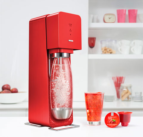 The Source SodaStream maker is designed by Yves Béhar and comes in  variety of colors and finishes. This one retails for $99.95.
