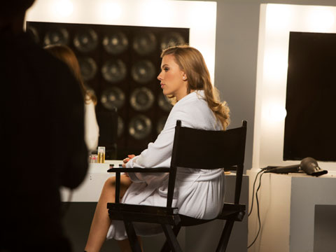 Scarlett Johansson behind the scenes at the making of SodaStream's first-ever Super Bowl commercial.