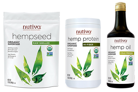Nutiva offers a great selection of hemp products (in recently redesigned packaging).