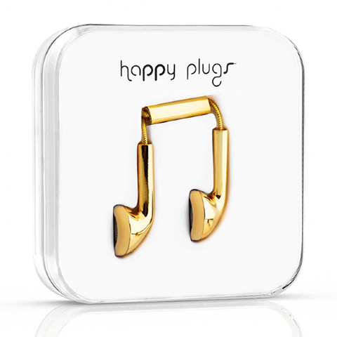 18 carat gold Happy Plugs
