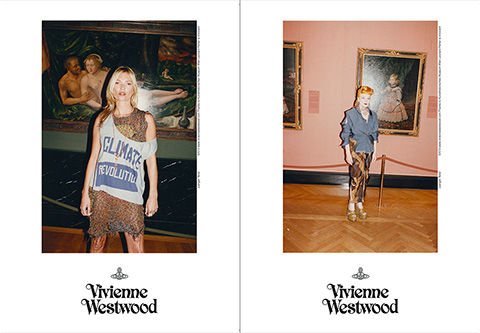 Shot in Vienna's prestigious Kunsthistorisches museum, Vivienne Westwood's Spring/Summer 2013 campaign features Kate Moss. Campaign photos by Juergen Teller, courtesy of Vivienne Westwood