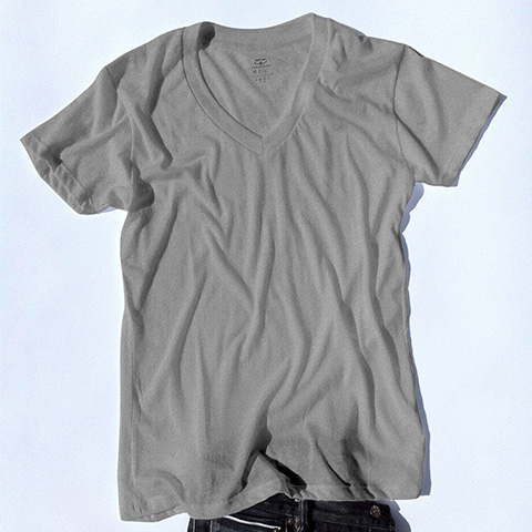 Goodlifer: Good Gifts for Men: RibbedTee Retro Fit V-neck