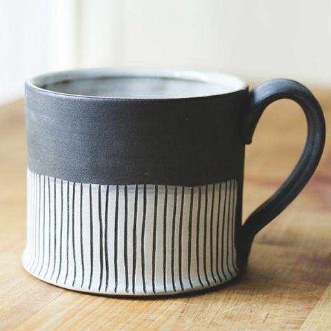 Goodlifer: Good Gifts for Your BFF: Black Mug by Jessica Wertz Ceramics