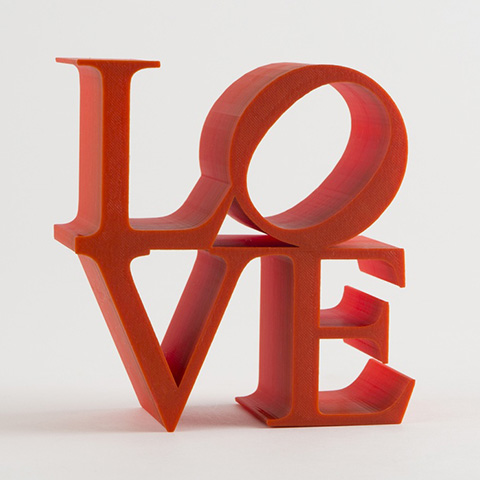 Good Gifts for Your (Lady) Love: 3D Printed LOVE Sculpture